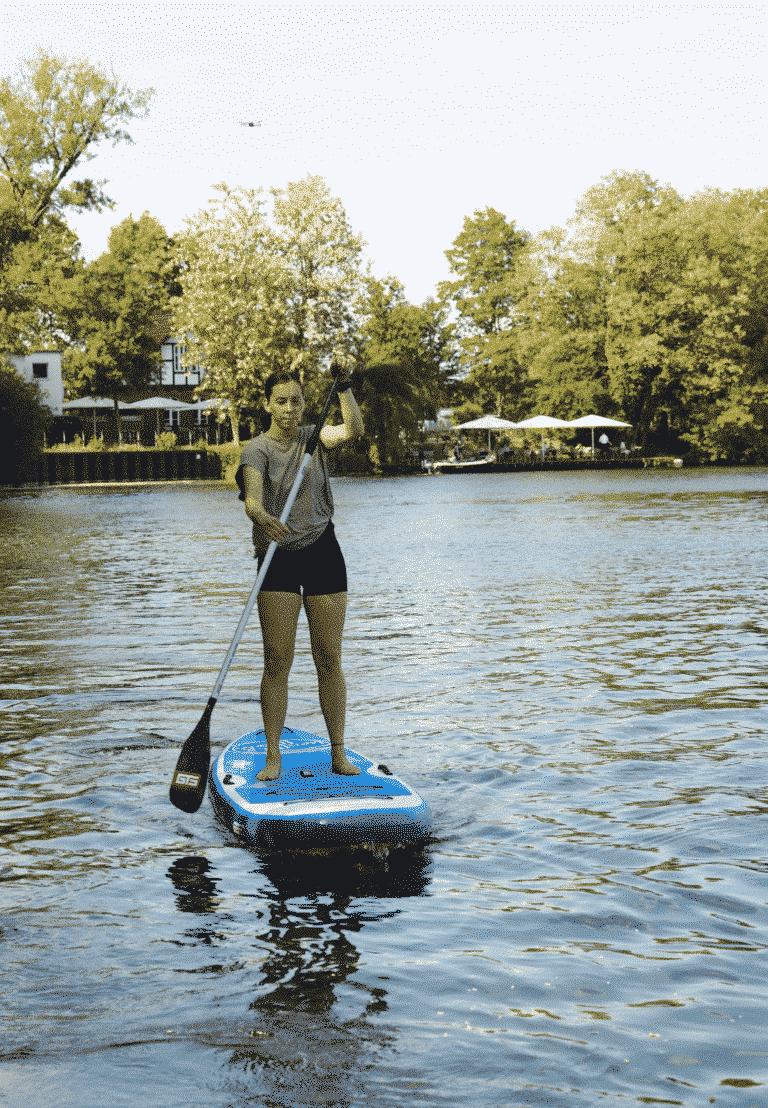 Malibu 11.0 StandUpPaddle Board. Perfekt geeignet für kleine StandUp Paddel Touren und Yoga und Fitness auf dem SUP.