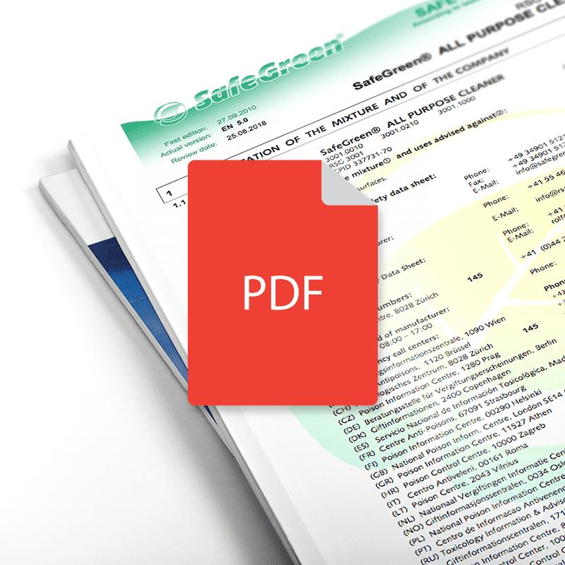 GTS All Purpose Cleaner Data Sheet (en)