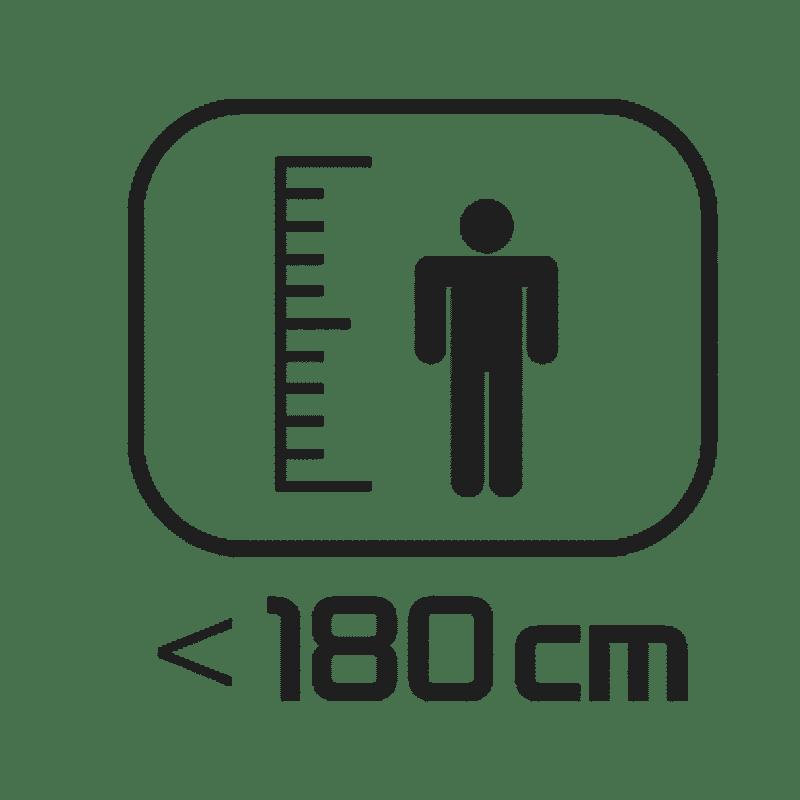 < 180 cm
