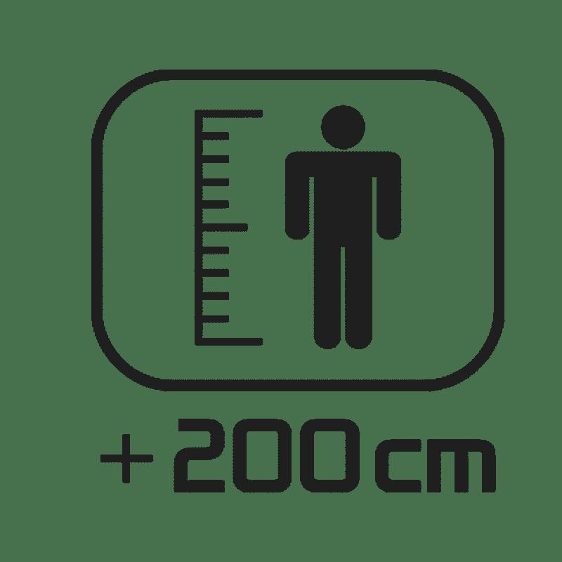 > 200 cm