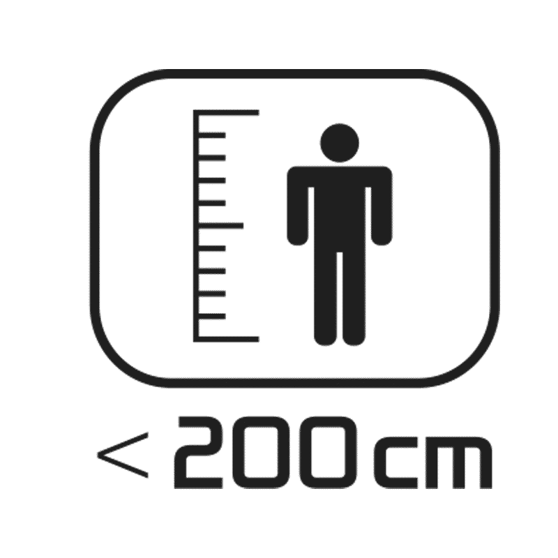 < 200 cm