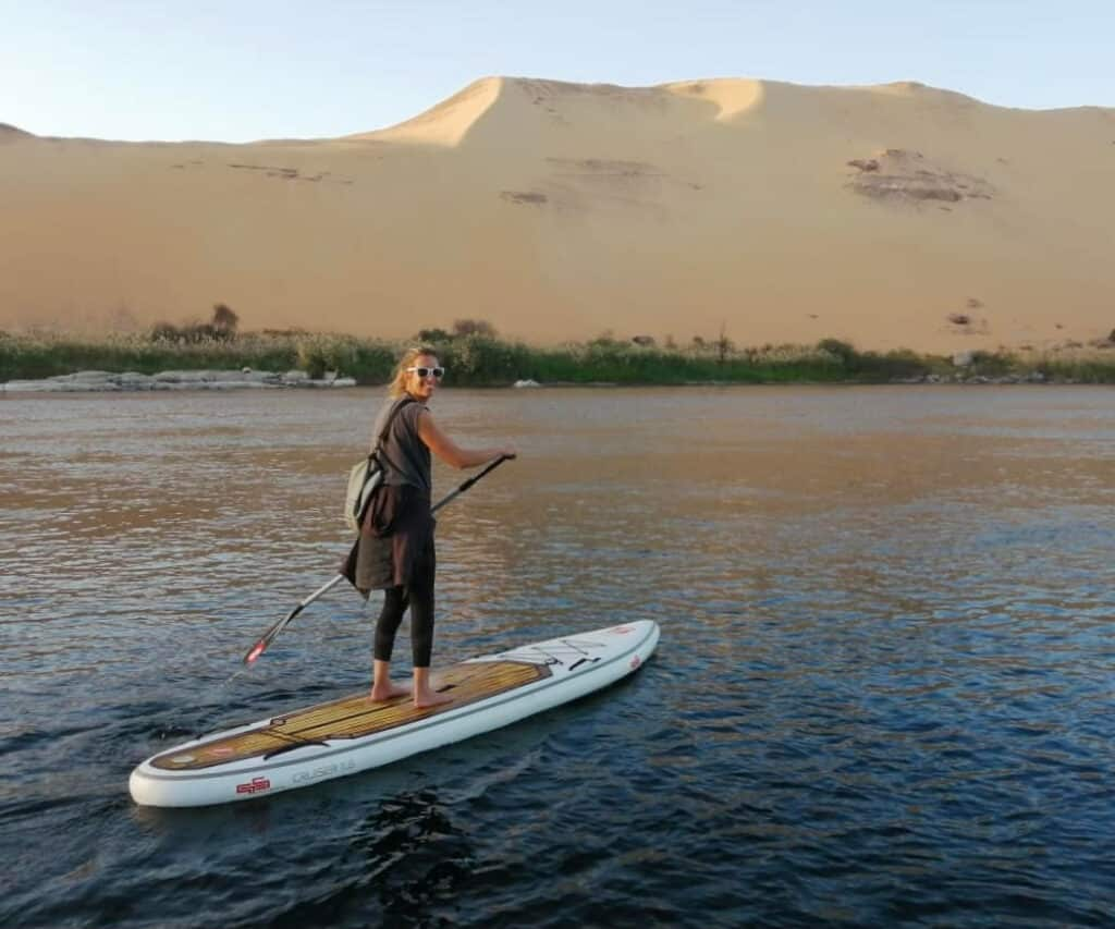 The allrounder SUP board from GTS on a SUP tour on the Nile.